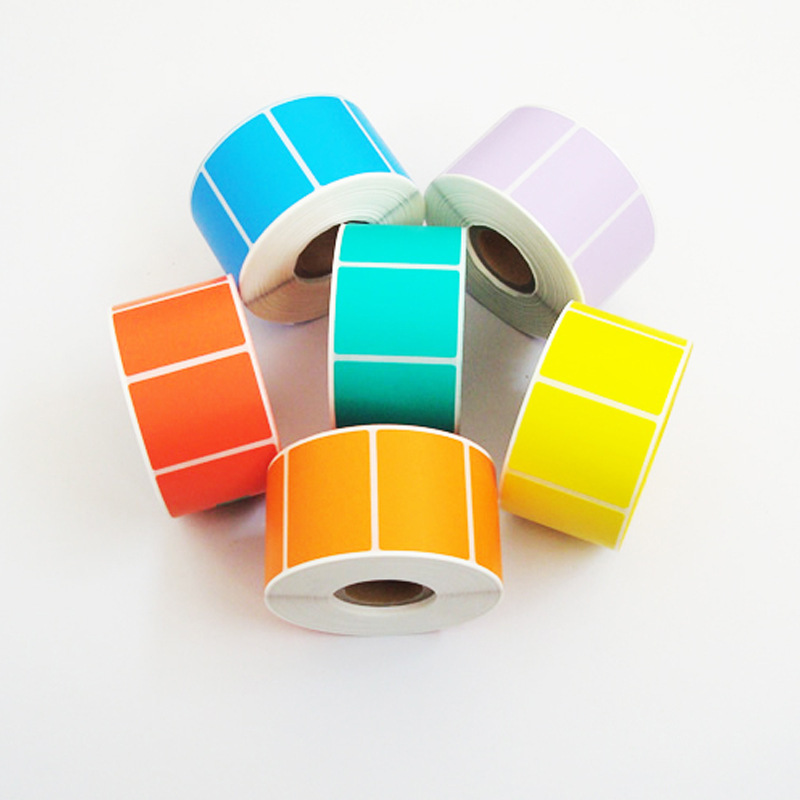 Hot Sell Colorful Void Direct Thermal Paper printing Stickers Label Roll