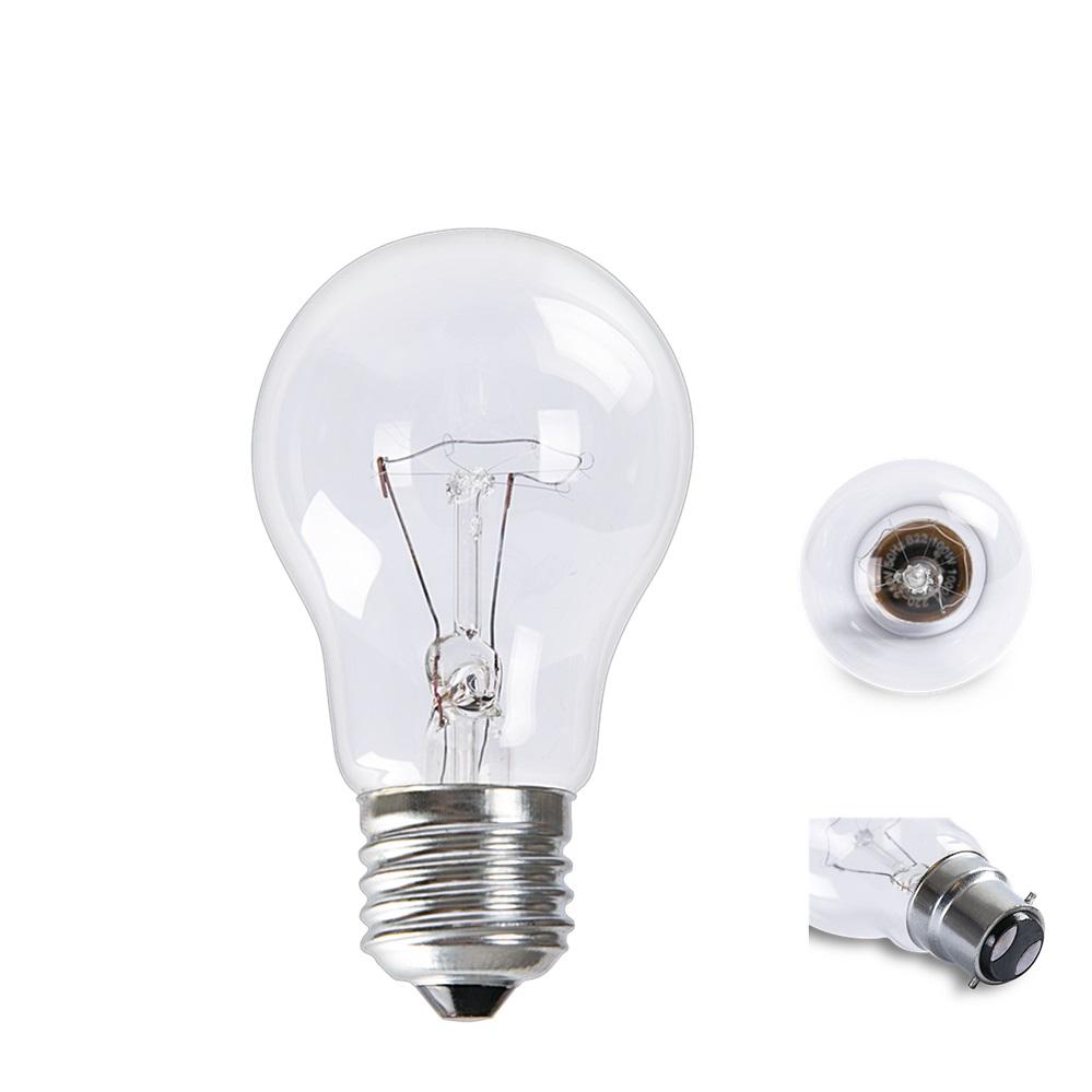 110V 200V Traditional A55 Clear GLS Shape 100W Incandescent Bulb