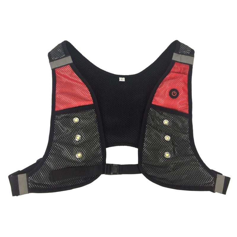 Horseback LED Safety Reflective Vest Jacket Outdoor Night Flashing Light Up Running Cycling Vest - KingCare | KingCare.net