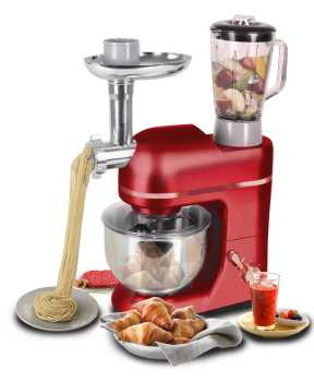 Topchef stand mixer food with Meat Grinder and Juice Blender in 1300W Tilt-Head5.0L Multifunction Stand Mixer