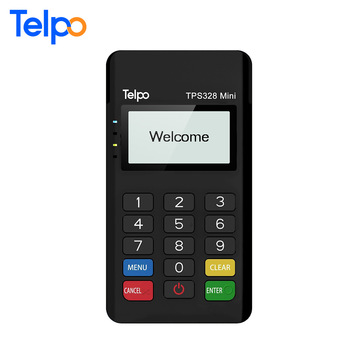 TPS328 Mini MSR/ICCR/RFID features EMV PCI Mpos with RS232 reader writer msr chip card credit card machine