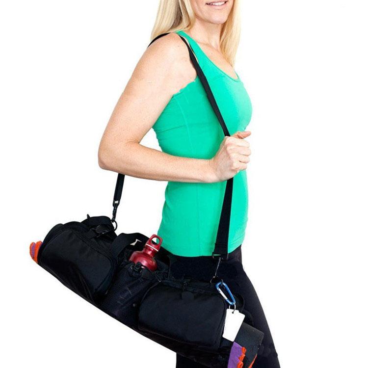 yoga mat bag,duffle cotton canvas yoga mat travel bag,eco friendly yoga handbag bag
