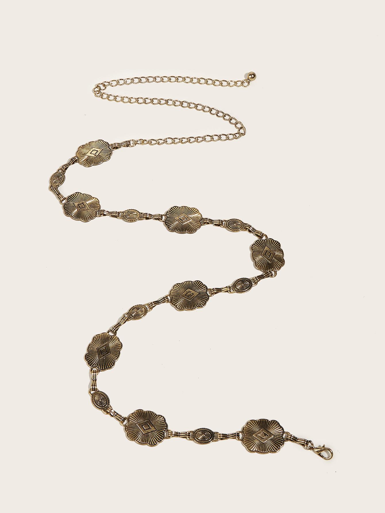 hot selling  new  manufacturer elegant ladies gold plated jeans Retro waist  chain belt women