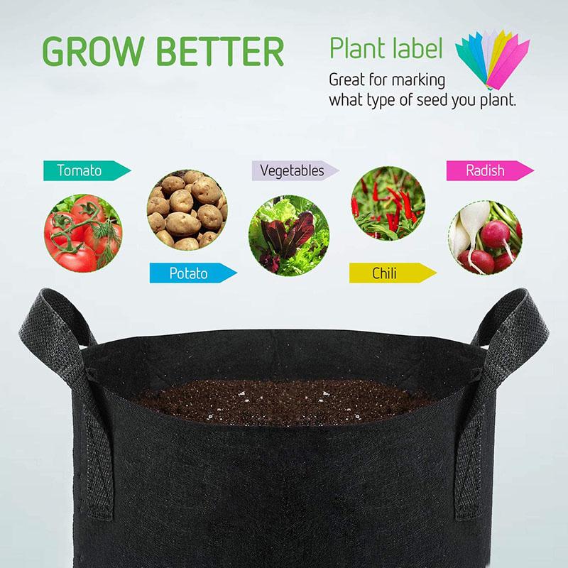 Cheap customized Hydroponic Garden Plastic Grow Bags For Flower 100 Gallon Non Woven Planter Grow Bags