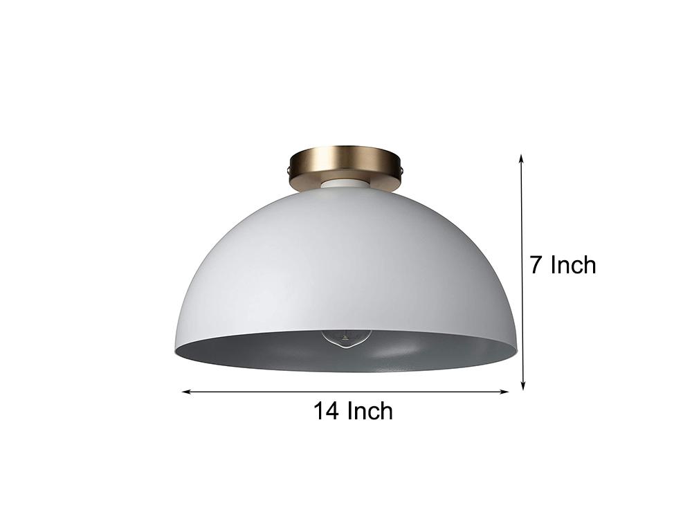 JLC-H52 современные одинарные полуплоский-стойка для потолочного светильника с металлическим оттенком