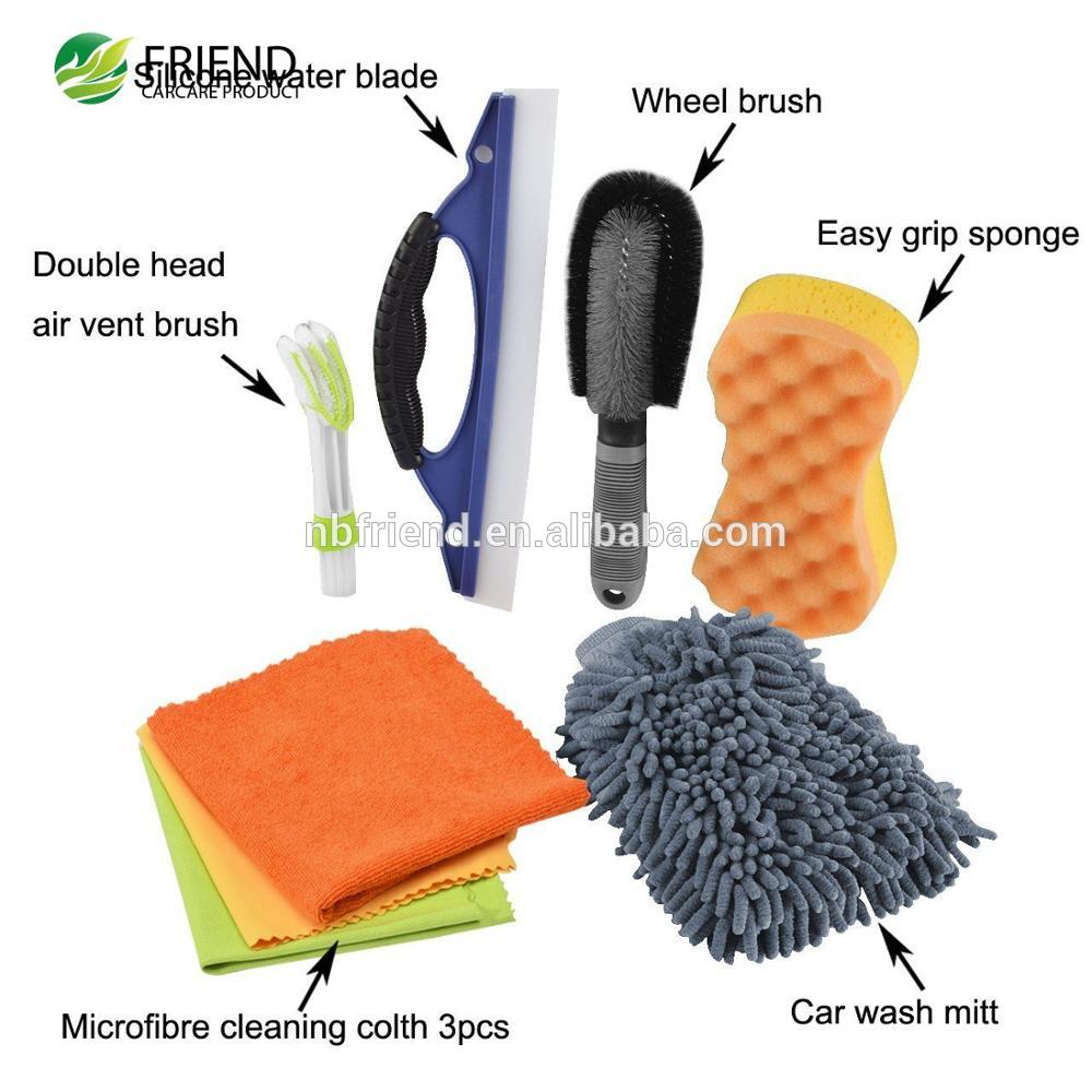 7pcs Car Cleaning Tools Kit Exterior and Interior in Box Bucket