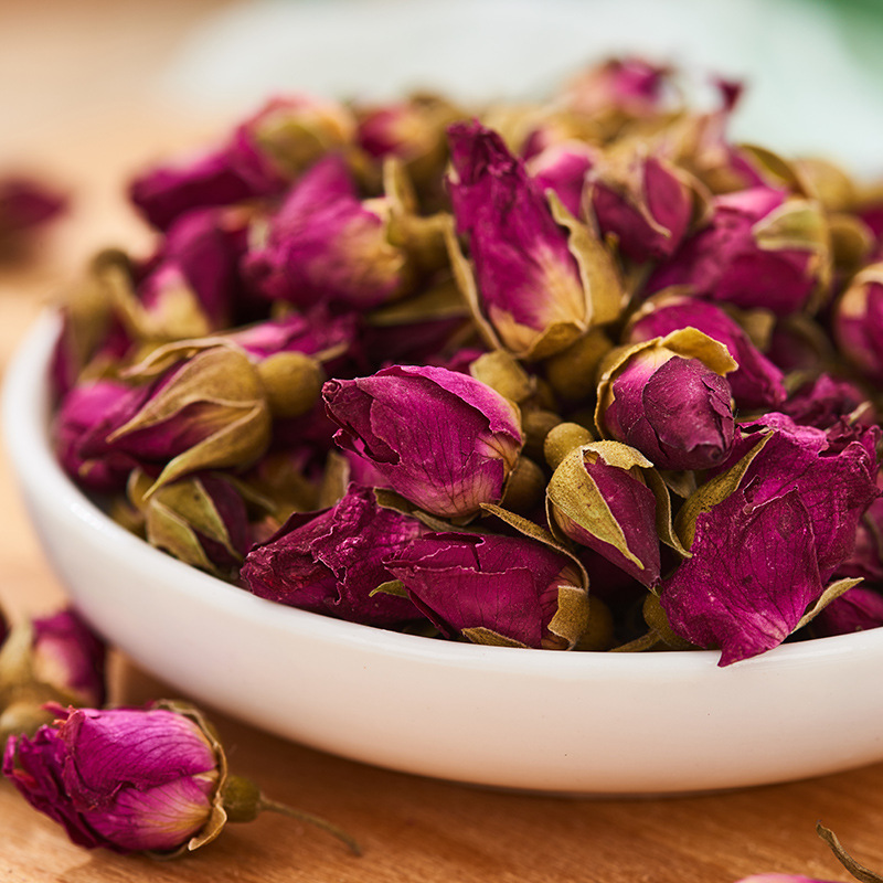Herbal natural rose buds dried organic in bulk - 4uTea | 4uTea.com