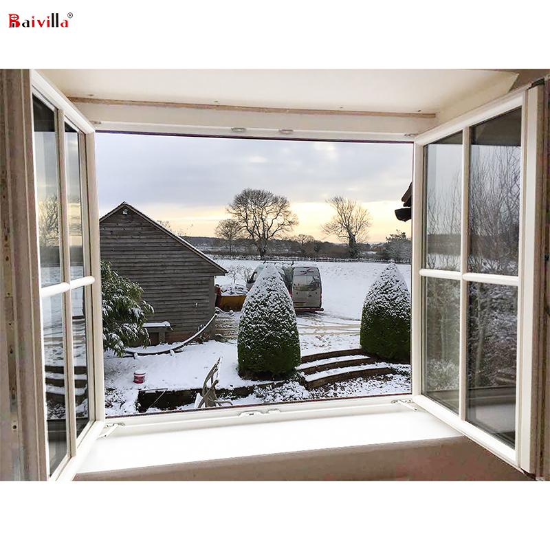 Роскошное американское стандартное окно с двойным стеклом Low-E, индивидуальное тепловое разрыв, алюминиевое стекло, качающееся окно