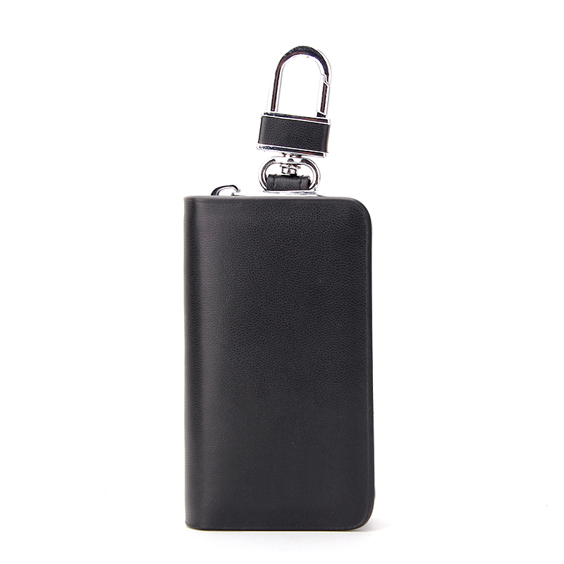 Factory OEM High Quality Zip Round Compact PU Leather Key Wallets