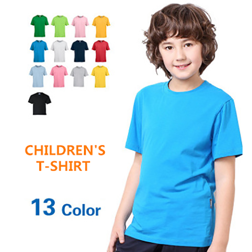 Оптовая продажа, детские футболки из 100% хлопка без рисунка, детские футболки с коротким рукавом и логотипом на заказ