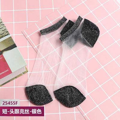 NEST Hyrax trends женские короткие кружевные чулки с ярким шелковым дизайном прозрачные модные сексуальные женские кружевные чулки(Китай)