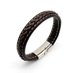 SUZY Jewelry Wholesale Luxury Men's Magnetic Charm Men Bracelet Leather Bracelets
