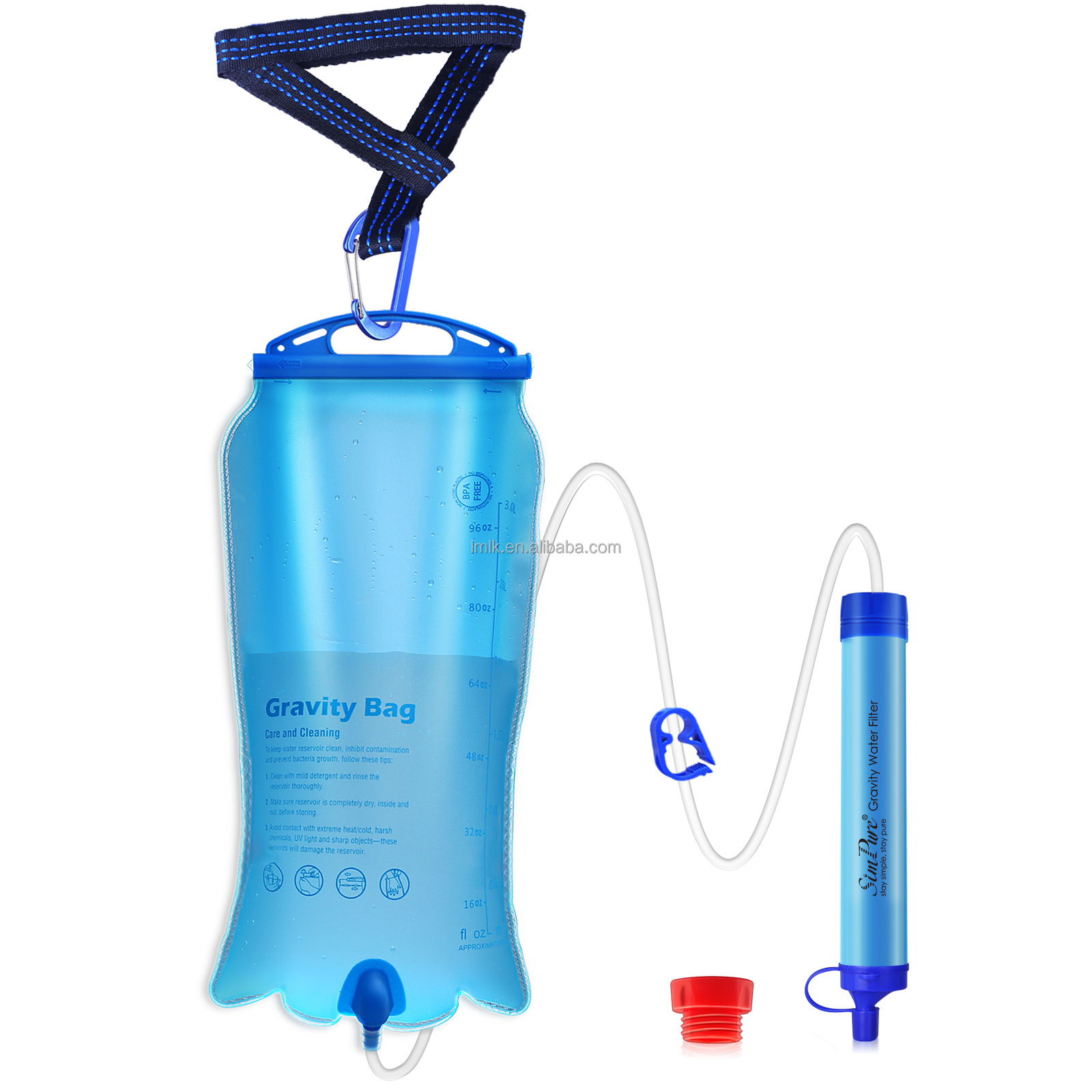6 Pack Survival Water Filter Straw Purifier Filtration Travel Camping Emergency