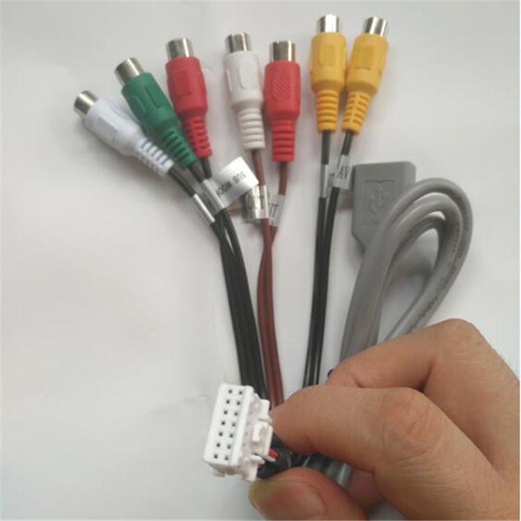 Усилитель мощности 14PIN 16pin 18pin 20pin 22pin 24Pin 30Pin RCA для автомобильного DVD-навигатора