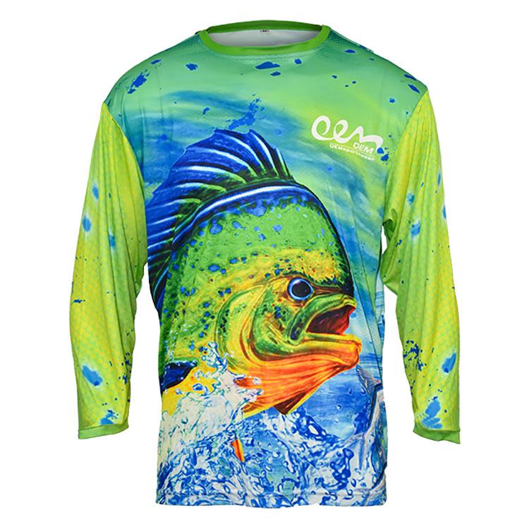 Пользовательский сублимационный Быстросохнущий UPF 50 рыболовный костюм футболка с длинным рукавом Одежда для рыбалки