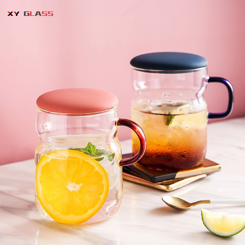 Funny Design Christmas Gift Borosilicate Pyrex Glass Tea Brewing Coffee Cup