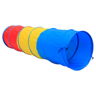 "wholesale, OEM 3-color kids pop up tent tunnel, Dia 48x180cm(19""x71"") 210D Oxford fabric kid play tunnel tent"
