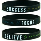 Wristband Rubber Wristbands Silicone Bracelet Wristband Motivational Bracelets Rubber Wristbands For Men Women Teens