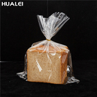 Custom Self Adhesive Seal Or Flat Square Bottom Transparent Clear Food Dessert Baking Bread Opp Cpp Packing Bag With Twist Ties