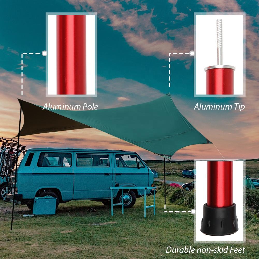Телескопические регулируемые алюминиевые палатки для кемпинга KingGear OEM под заказ 6063