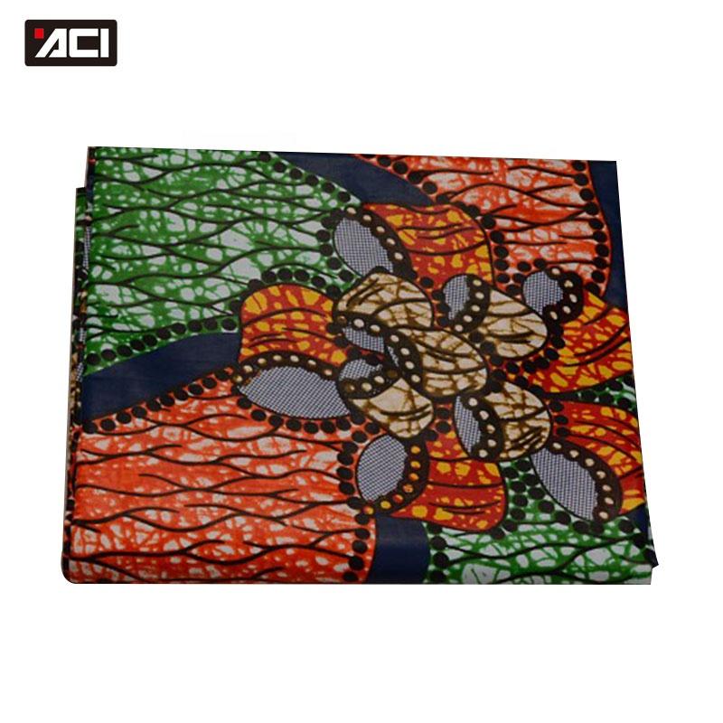 ACI African Fabric Ankara Fashionable Real Wax African Wax Prints Fabric Ankara Nigeria Batik Fabric In 100% Cotton