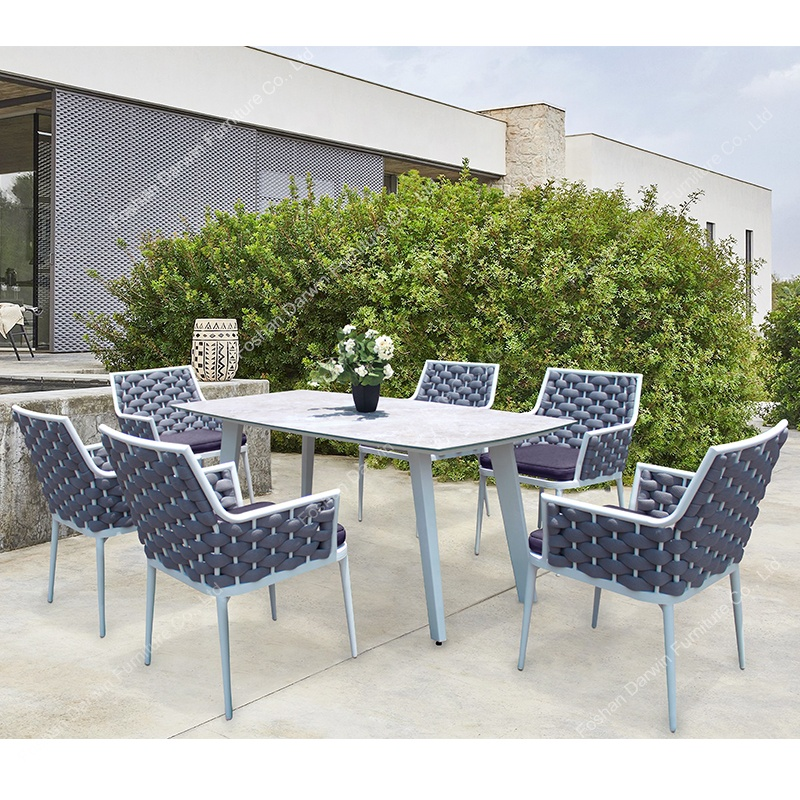 Luxury Outdoor Furniture Rope Rattan Wicker Garden Dining Table And Chair Outdoor Furniture Dining Set Buy Outdoor Furniture Dining Set Garden Table And Chair Rattan Dining Set Product On Alibaba Com