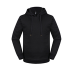 Hoodies Cotton Fleece Hoodies OEM Cheap Oversized Black Blank Fleece Men's Hoodies 100% Cotton