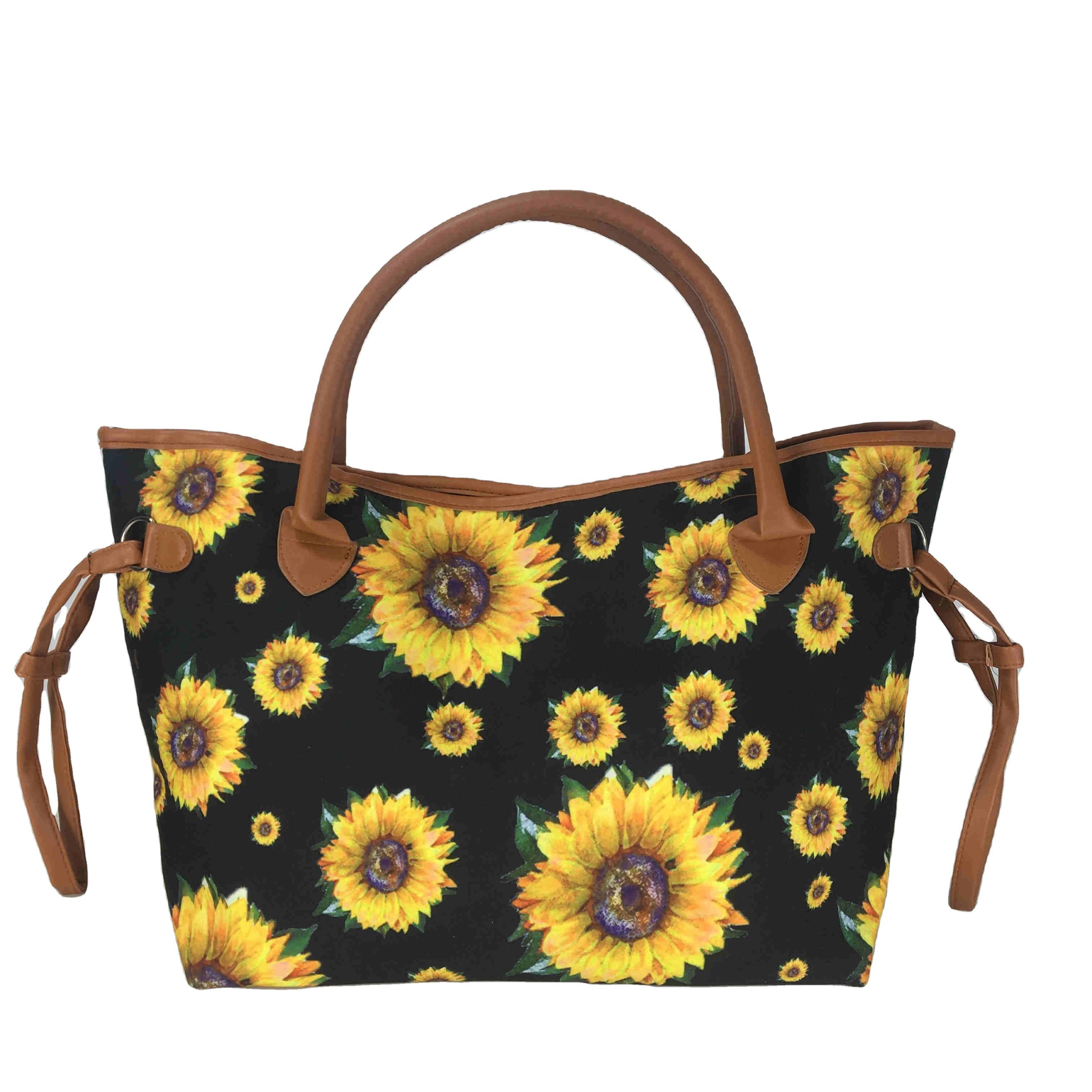 Grosir Tas Bunga Matahari Hitam Kosong Untuk Wanita Tote Bag Tas Tangan Utilitas Dengan Tas Tangan Kulit Lain Buy Bunga Matahari Tote Tas Lain Tas Tangan Tas Kulit Product On Alibaba Com