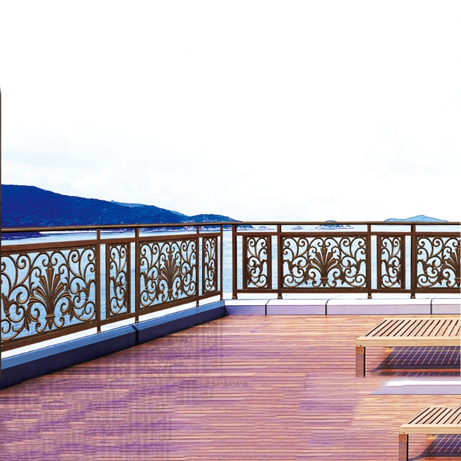 Modern Decorative Brass Finish Integral Balcony Aluminum Deck Railing Buy Aluminum Deck Railing Aluminum Balcony Railing Aluminum Railing Product On Alibaba Com