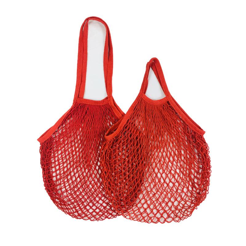 Хлопковая портативная многоразовая продуктовая сумка-Органайзер для фруктов и овощей, сумка-тоут для хранения с короткой ручкой