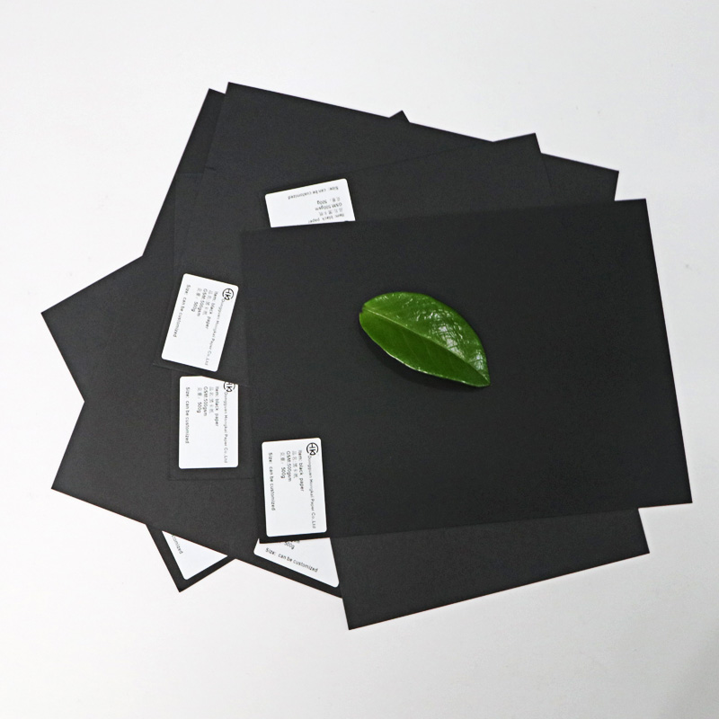 a4 black paper 110g high stiffness black paper raw black parchment core paper in rolls black chipboard for tag