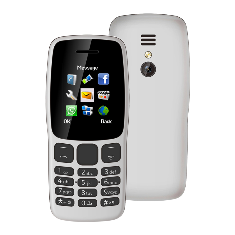 Factory wholesale NEW 106 mobile phone 1.77 inch color screen mini feature phone, dual SIM cheap mobile phone with camera