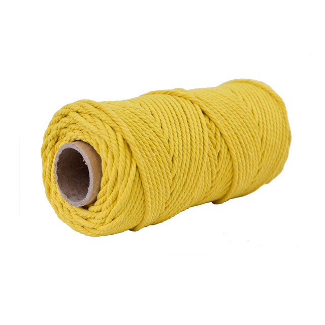 Factory Price Custom 100% Cotton Solid Braided Rope Natural Cotton Rope Macrame Cord