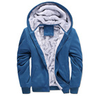 Thick Winter Hoodie Men's Coat Thick Workout Jacket Winter Full Zip Warm Faux Fur Lined Hoodie