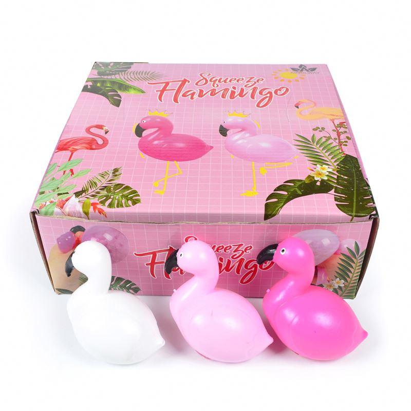 Дешевая цена, популярный декомпрессионный мяч в форме Фламинго из термопластичной резины, новинка, выпуск от новой модели, игрушечный мяч для муки для детей