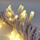 33' commercial fairy Garland 100 led light bulb Festival string lighting outdoor
