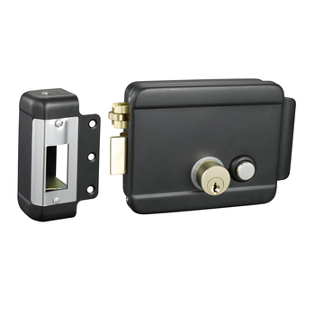 Electric gate lock with wireless remote control for intercom access control system