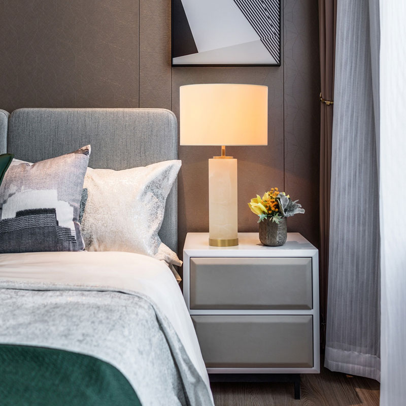 Прикроватная алебастра стороны кровати отеля исследование спальня офисный дизайн Декоративные Исламской настольная лампа