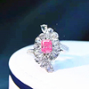 18k gold 0.56ct SI1 genuine pink diamnd ring