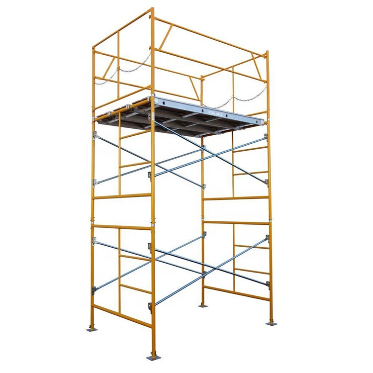 Tianjin SS Powder Coated Andamios Metalicos Mobile Steel Scaffolding Tower with Ladder