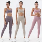 Apparel KH-YG025 Wholesale Womens Workout Apparel Gym Training Hot Sexy Yoga Set Clothes