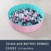 16-Green Pink Ball Pool+300Ball