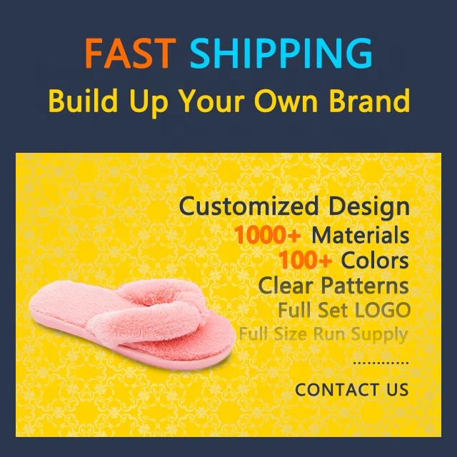 Warmlab 2021 animal pattern flip flop slipper plush fluffy slippers gg luxury custom designer women furry  fur slides with logo