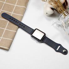 Кожаный ремешок для apple watch band 4 5 44 мм 40 мм iwatch band 42 мм 38 мм Браслет apple watch 4 3 2 1 Аксессуары спортивный ремешок для часов(Китай)