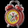 Rouge belle alarme horloge