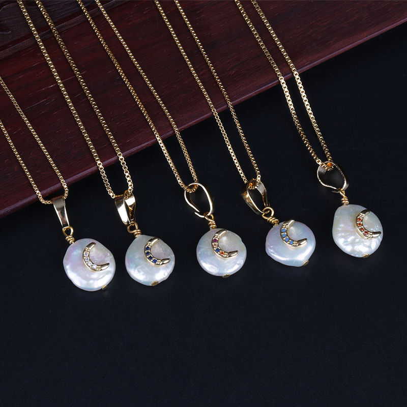 20.6x15.6x1.9mm Crescent Pendant-CZ Micro pave Moon Necklace-Gold Plated Celestial Jewelry Charm