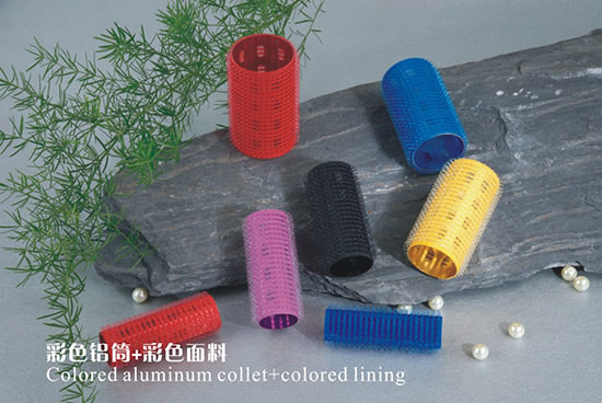 Factory Outlet Beauty Cosmetics hair rollers Length 62 mm Colored aluminum collet + colored lining hair rollers