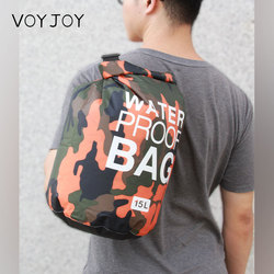 Camouflage PVC 2L 5L 10L 20L 30L Bicycle Gym Duffel Drawstring Dry Travel Men Sling Bucket Waterproof Bag
