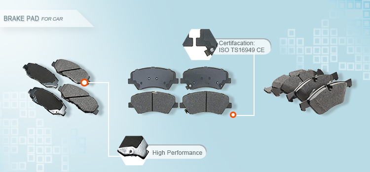 ZPARTNERS ceramic brake pad car front auto brake pads for PRADO FORTUNER HILUX OEM 04465-0K090