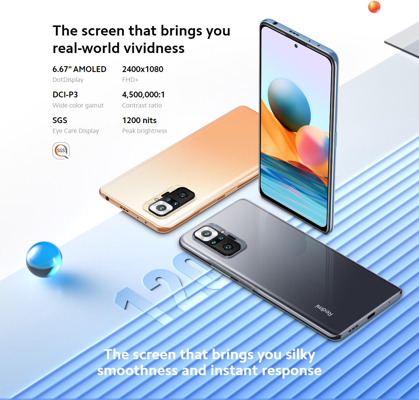 Xiaomi Redmi Note 10 Pro 6GB 128GB 5020mAh Battery 6.67 inch Mobile Phones Cellphone Smartphones